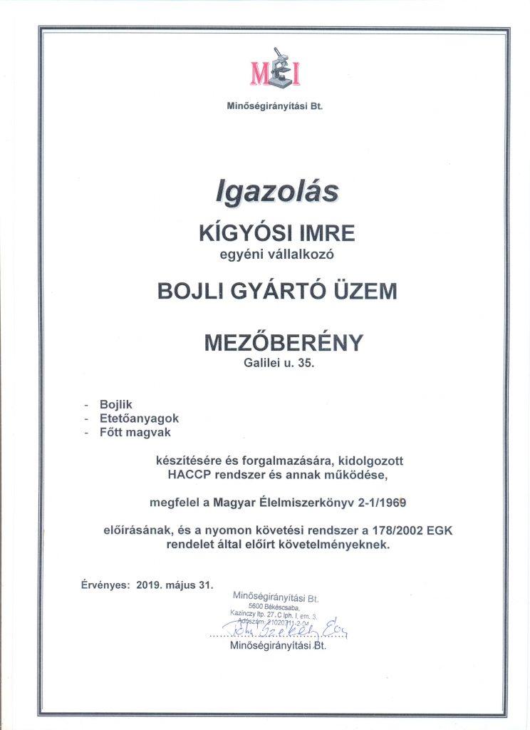 Mr-Bojli-Kigyosi-Imre-engedély